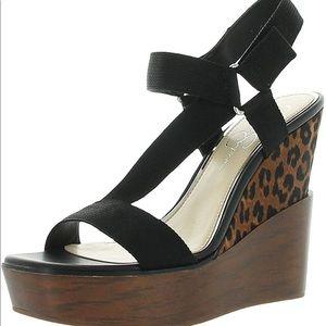 New!  Jessica Simpson leopard wedge sandal